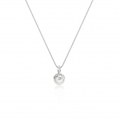 Entwined Pearl Pendant with White Gold Chain-PEVARWG1186-2