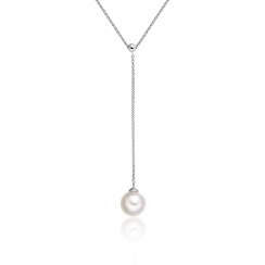 Akoya Pearl Lariat in White Gold-1