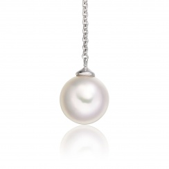 Akoya Pearl Lariat in White Gold-2