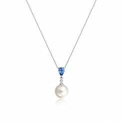 Classic Pear Drop Pendant in Blue Sapphire-2