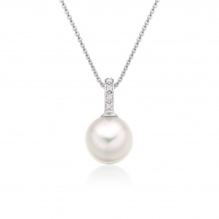 Mythologie Akoya Pearl and Diamond Pendant in White Gold-APVARWG1077-2