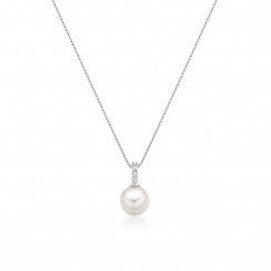 Mythologie Akoya Pearl and Diamond Pendant in White Gold-APVARWG1077-3