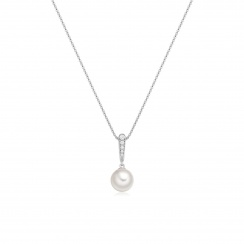 Mythologie Dewdrop Akoya Pearl Pendant in White Gold-APVARWG1232-2