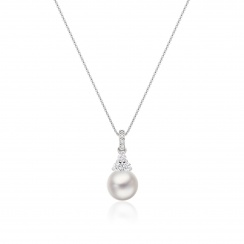 Astral Cluster Akoya Pearl Pendant in White Gold-APWRWG1328-2