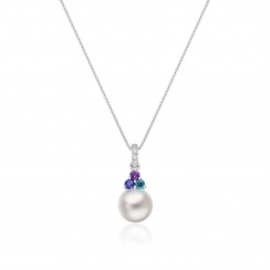 Astral Lagoon Akoya Pearl Pendant in White Gold-APWRWG1329-2