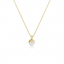 Entwined Pearl Pendant with Yellow Gold Chain-APWRYG0798-2