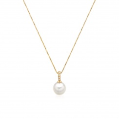 Mythologie Akoya Pearl and Diamond Pendant in Yellow Gold-APVARYG1078-3