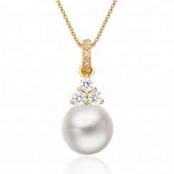 Astral Cluster Akoya Pearl Pendant in Yellow Gold-APWRYG1330-1