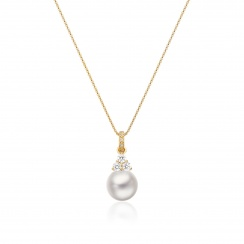 Astral Cluster Akoya Pearl Pendant in Yellow Gold-APWRYG1330-2