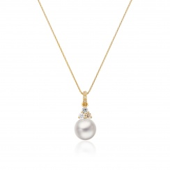 Astral Moon Akoya Pearl Pendant in Yellow Gold-APWRYG1332-2