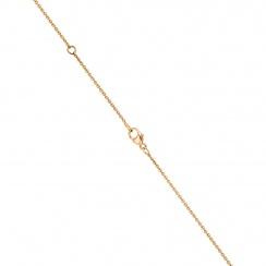 Classic Rose Quartz Pear Drop and Diamond Pendant in Rose Gold-PEVARRG1067-3
