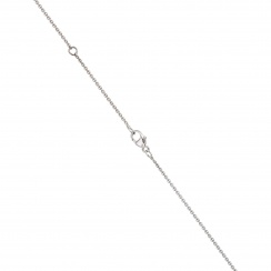 Zigzag Diamond and Akoya Pearl Pendant in White Gold-3
