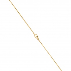 Classic Single Freshwater Pearl Necklace with Yellow Gold Chain-2