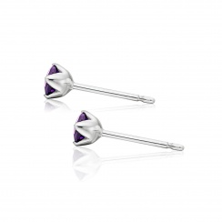Lief Amethyst Earrings in White Gold with Freshwater Pearls-FEWDAM0467-3