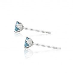 Lief Aquamarine Studs in White Gold-EAAQWG0413-2