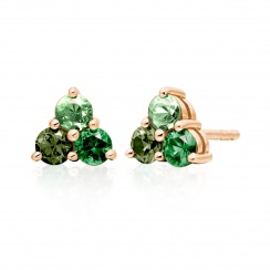 Astral Aurora Studs in Rose Gold with Akoya Pearls-AEWRRG1342-2