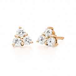Astral Cluster Studs in Rose Gold with Akoya Pearls-AEWRRG1341-2