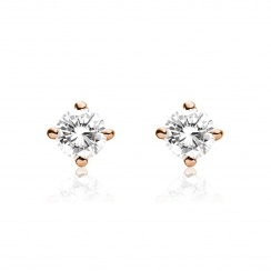 Diamond Studs in Rose Gold with Akoya Pearls-AEWRRG1308-2