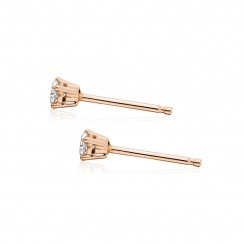 Diamond Studs in Rose Gold with Akoya Pearls-AEWRRG1308-3