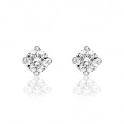 Diamond Stud Earrings in White Gold-EADIVAR1361-1