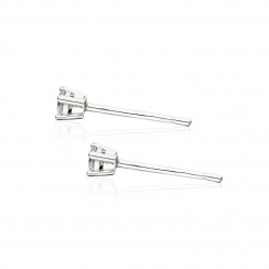 Diamond Studs in White Gold with White Freshwater Pearls-FEWDWG0489-3