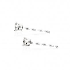 Diamond Stud Earrings in White Gold-EADIVAR1361-2