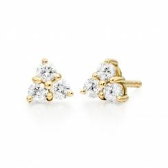 Astral Cluster Studs in Yellow Gold with Akoya Pearls-AEWRYG1338-2