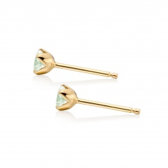Lief Green Beryl Studs in Yellow Gold-EAGBYG0451-2