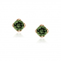 Lief Green Tourmaline Studs in Rose Gold-EAGTRG1170-1