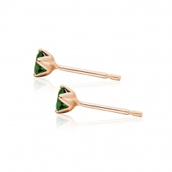 Lief Green Tourmaline Studs in Rose Gold-EAGTRG1170-2