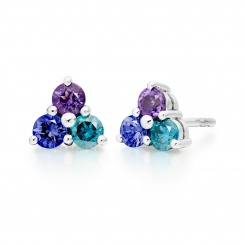 Astral Lagoon Studs in White Gold with Akoya Pearls-AEWRWG1337-2