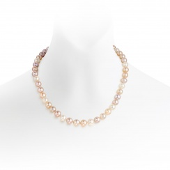 Classic Multi-coloured Freshwater Pearl Necklace-FNMRYG0050-1