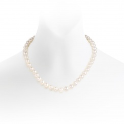 The Classic White Freshwater Single Strand Pearl Necklace-FNVAR004100420049-1