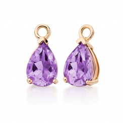 Classic Leverbacks with Mythologie Amethyst Drops in Rose Gold-EAAMRG1113-3