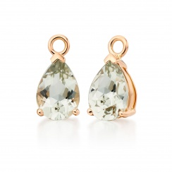 Classic Leverbacks with Mythologie Green Amethyst Drops in Rose Gold-EAGARG1114-3