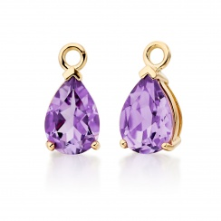 Classic Leverbacks with Mythologie Amethyst Drops in Yellow Gold-EAAMYG1110-3