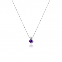 Lief Amethyst Pendant in White Gold-PEVARWG1173-2