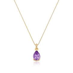Mythologie Amethyst and Diamond Pendant in Yellow Gold--PEVARYG1062-2