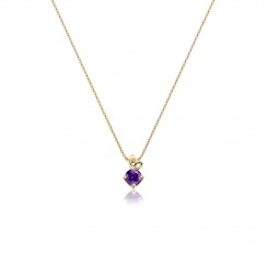 Lief Amethyst Pendant in Yellow Gold-PEVARYG1175-2