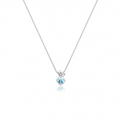 Lief Aquamarine Pendant in White Gold-PEVARWG1179-2