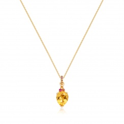 Astral Blaze Pear Drop Pendant in Yellow Gold-PEVARYG1124-2