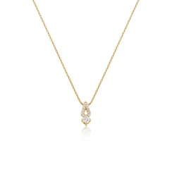 Zigzag Diamond Pendant in Rose Gold-PEDIRG0578-2