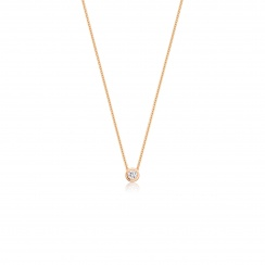 Classic 0.10ct Diamond Pendant with Rose Gold-2