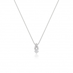 Zigzag Diamond Pendant in White Gold-PEDIWG0576-2