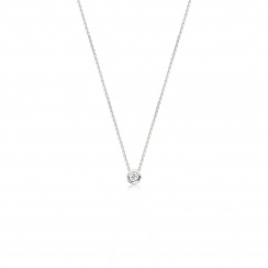 Classic 0.10ct Diamond Pendant with White Gold-2