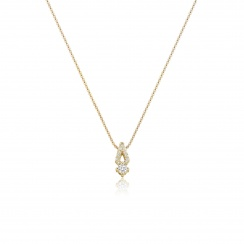 Zigzag Diamond Pendant in Yellow Gold-PEDIYG0577-1