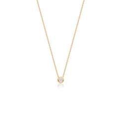 Classic 0.10ct Diamond Pendant with Yellow Gold-2