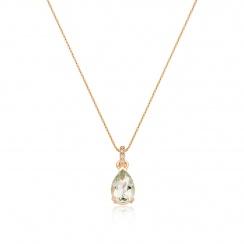 Mythologie Green Amethyst and Diamond Pendant in Rose Gold-PEVARRG1066-2