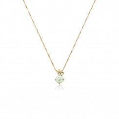 Lief Green Beryl Pendant in Yellow Gold-PEVARYG1176-2