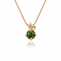 Lief Green Tourmaline Pendant in Rose Gold-PEVARRG1177-1